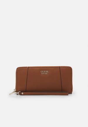 NAYA LARGE ZIP AROUND - Lommebok - cognac