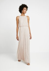 Adrianna Papell - HALTER BEADED DRESS - Occasion wear - shell - 1