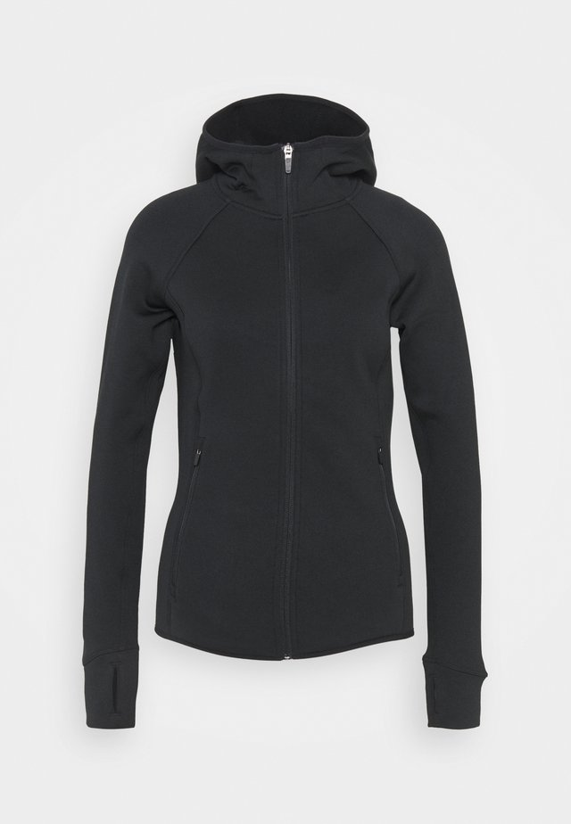 STRETCH - Fleece jacket - black