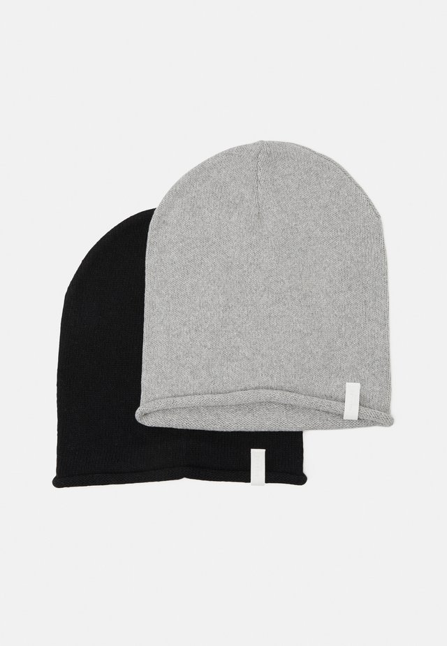 2 PACK - Mössa - black/light grey