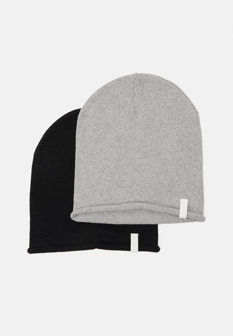 Pier One - 2 PACK - Beanie - black/light grey