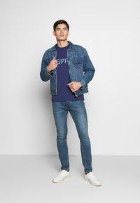 Esprit - LOGO - T-shirt z nadrukiem - dark blue - 1