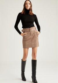 DeFacto - Mini skirt - beige - 0