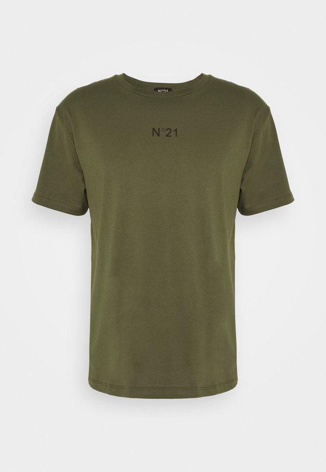 T-shirt print - verde oliva