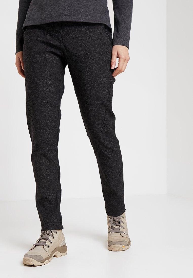 Jack Wolfskin - WINTER TRAVEL PANTS WOMEN - Pantaloni outdoor - black
