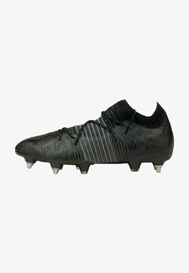 Voetbalschoenen met metalen noppen - puma black/asphalt