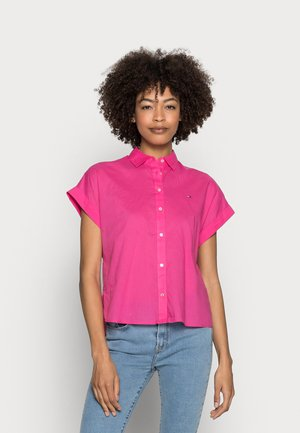 COTTON VOILE RELAXED SHIRT - Button-down blouse - pink
