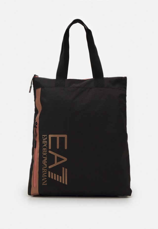 UNISEX - Tote bag - black/rose gold