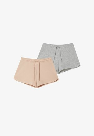 2 PACK - Short - grey/beige