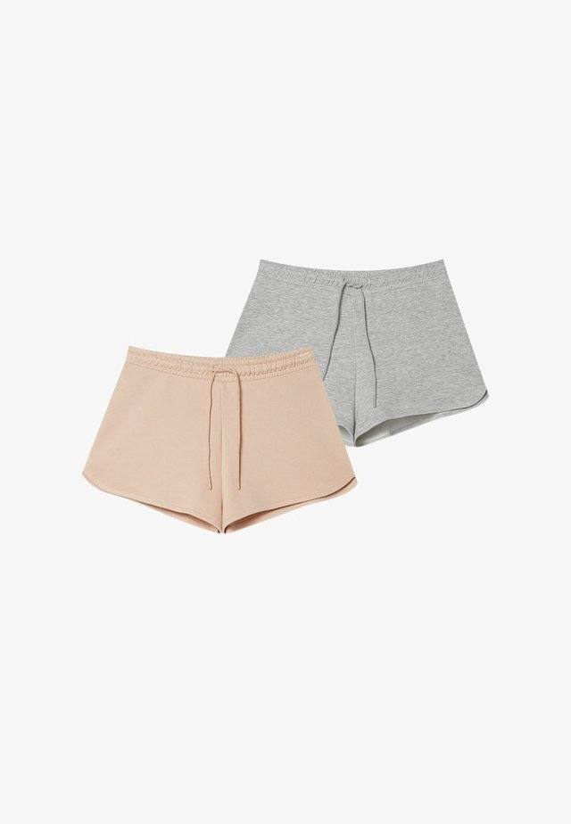2 pack - Kraťasy - grey/beige