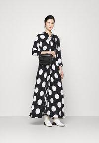 YAS - YASSAVANNA DOT LONG SHIRT DRESS - Maxi dress - black/white - 1