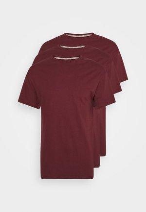 MULTI TEE AUTUMN 3 PACK - Basic T-shirt - bordeaux