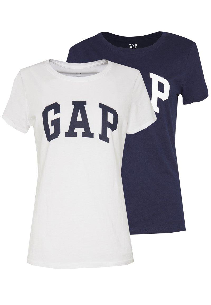 GAP - FRANCHISE TEE  2 PACK - T-shirt z nadrukiem - navy uniform