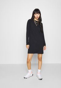 Even&Odd - BASIC - Sweat mini dress - Day dress - black - 1