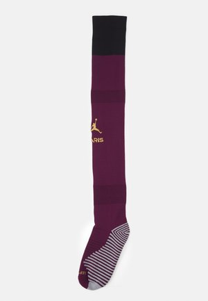SOCK UNISEX - Knee high socks - bordeaux/black/truly gold