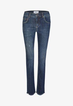 DESTROYED SPARKLE' MIT GLITZERSTEINEN - Bootcut jeans - blue denim