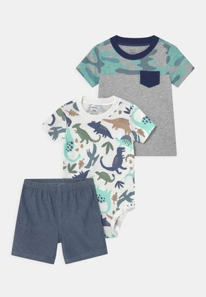 CAMO SET - T-shirt print - mottled grey/green
