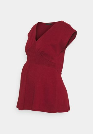 TEE SMOCK - Basic T-shirt - sun-dried tomato