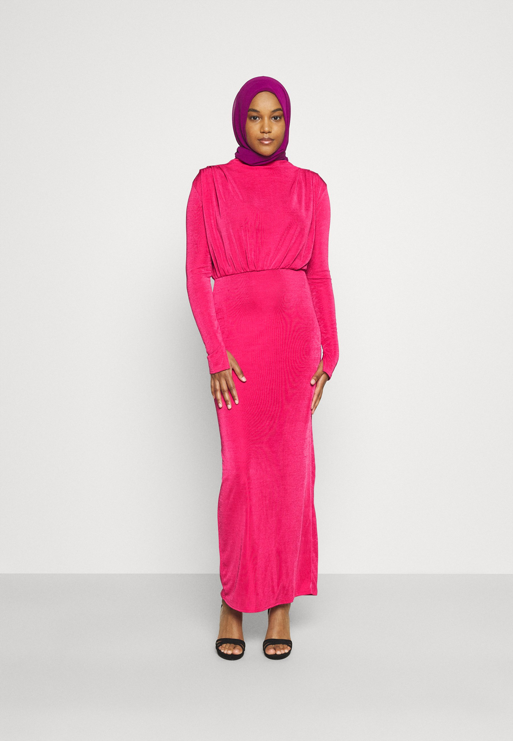 Women MODESTY ACETATE DRAPE TUNIC  - Jersey dress