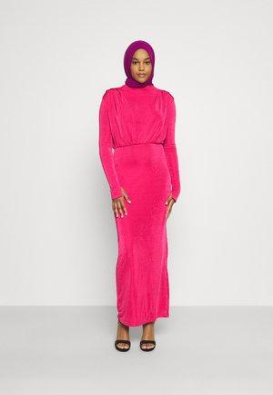 MODESTY ACETATE DRAPE TUNIC  - Jerseykjole - pink