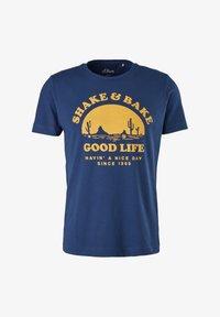 s.Oliver - MIT SCHRIFTPRINT - Print T-shirt - blue good life print - 6