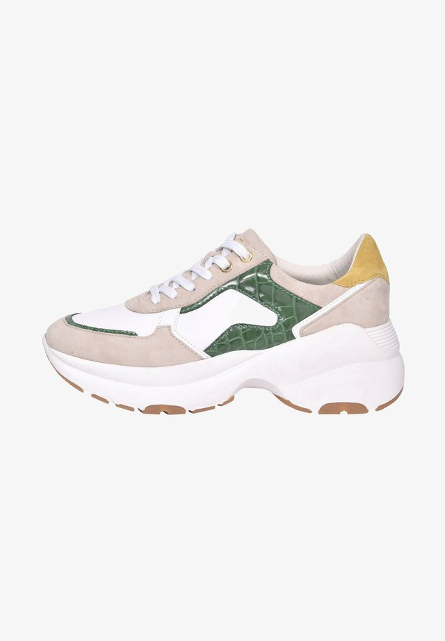 Trainers - white/beige/green