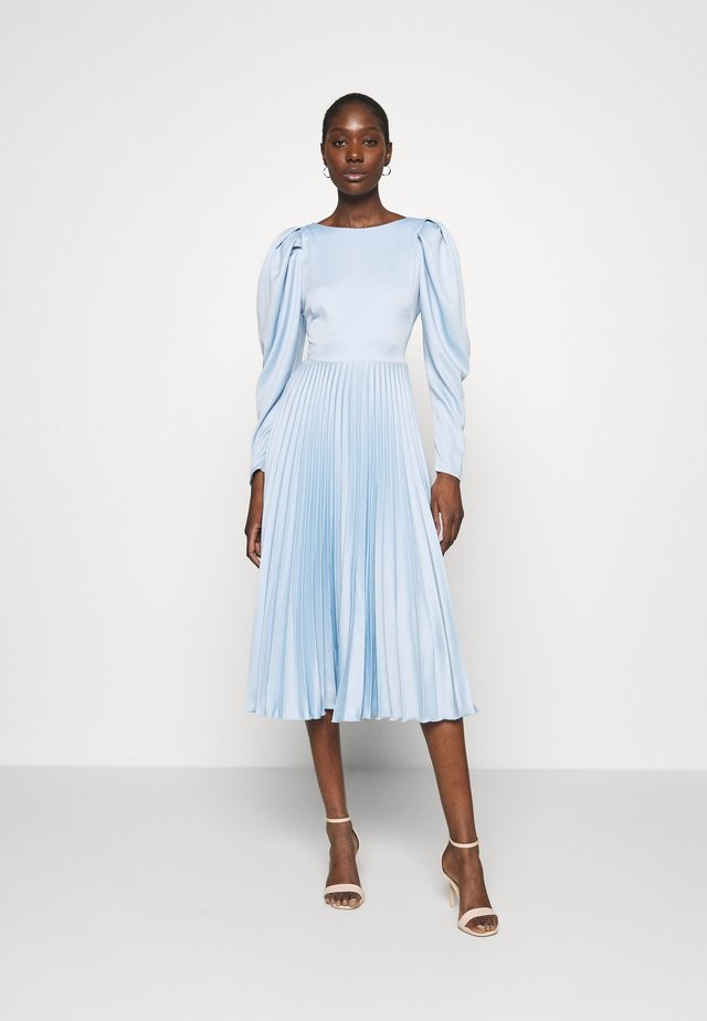 PLEATED DRESS - Cocktail dress / Party dress - navy