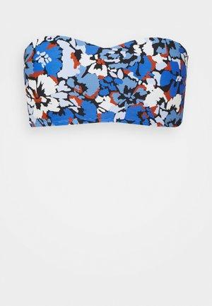 THRIFT SHOP BUSTIER BANDEAU - Bikini top - blue