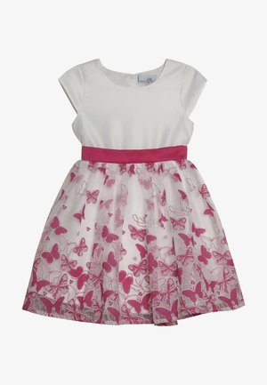 Cocktail dress / Party dress - weiss/pink