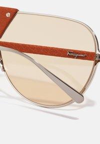 Salvatore Ferragamo - UNISEX - Sunglasses - light gold-coloured/camel leather - 4