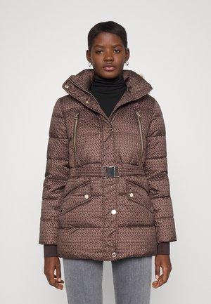 BELTED COAT - Winter coat - brown