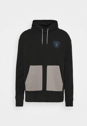 NFL LAS VEGAS RAIDERS DIFFUSION OVERHEAD HOODIE - Sweatshirt - black