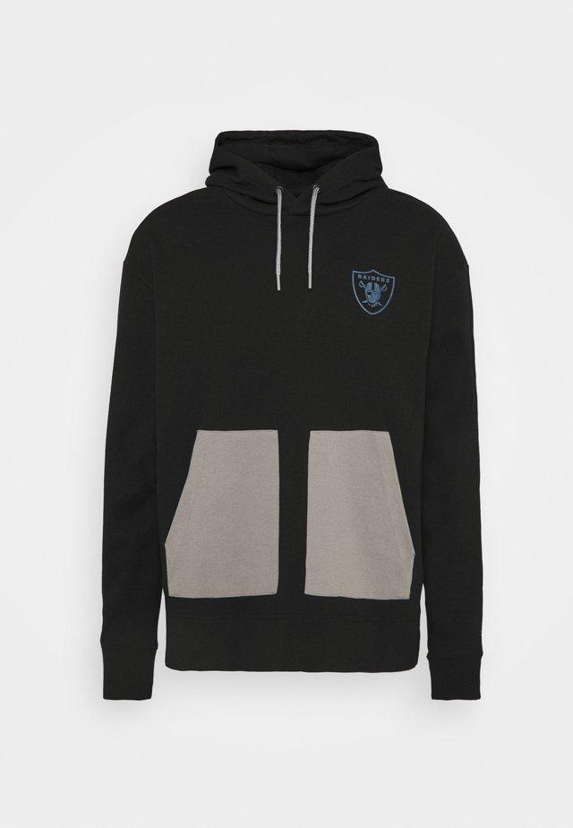 NFL LAS VEGAS RAIDERS DIFFUSION OVERHEAD HOODIE - Sweater - black
