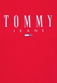 Tommy Jeans - ESSENTIAL LOGO TEE - Print T-shirt - deep crimson - 6