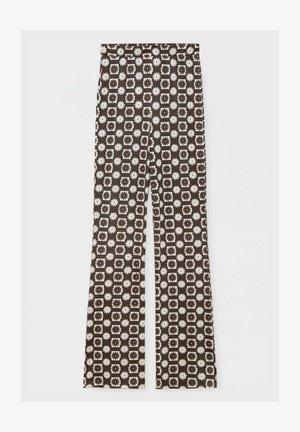MIT GÄNSEBLÜMCHEN - Kalhoty - mottled brown