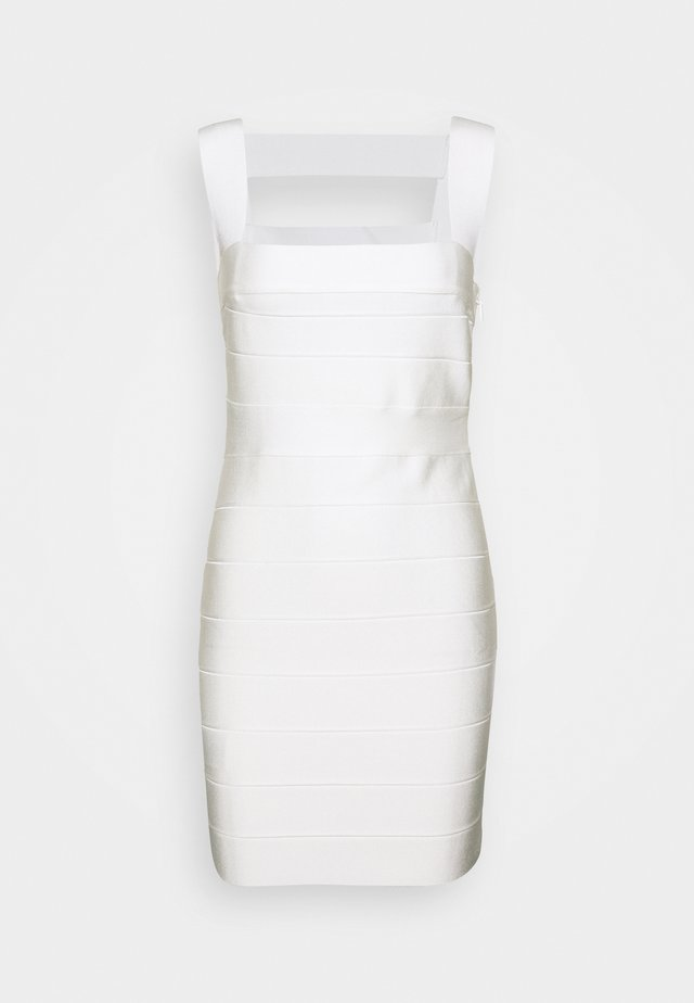 CUT OUT DRESS - Vestido de cóctel - alabaster