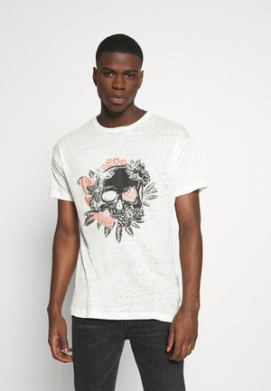 BECHUCK - Print T-shirt - white