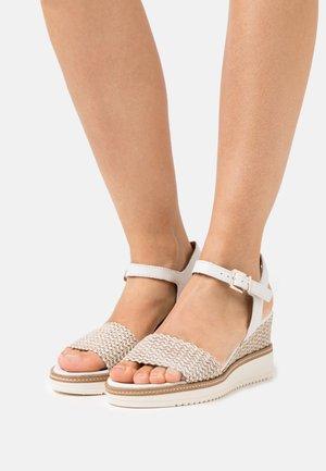Platform sandals - white/cream