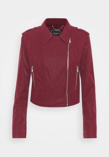 NEW KHLOE JACKET - Faux leather jacket - deep burgundy