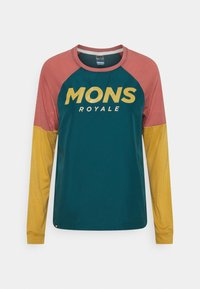 Mons Royale - TARN FREERIDE WIND  - Langarmshirt - deep teal/pink clay/honey - 0