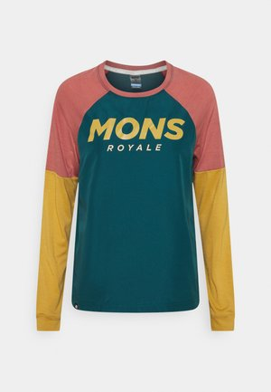 TARN FREERIDE WIND  - Long sleeved top - deep teal/pink clay/honey