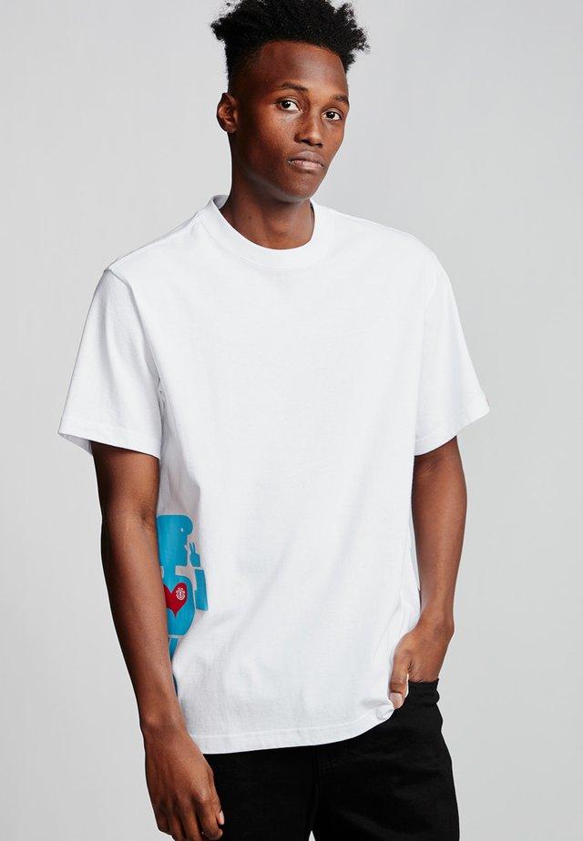 BARLEY - Print T-shirt - optic white