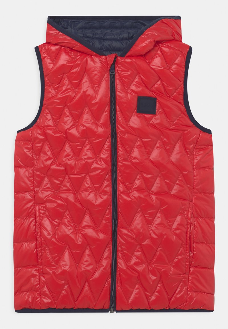 BOSS Kidswear - REVERSIBLE PUFFER SLEEVELESS - Bodywarmer - red