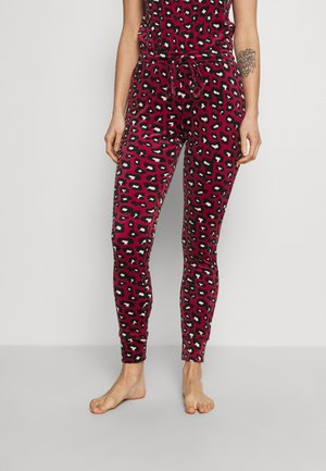 LEGGING CUFF LEOPARD - Pyjama bottoms - rumba red