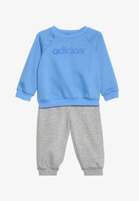 adidas Performance - ESSENTIALS LINEAR TRACKSUIT BABY SET - Tracksuit - real blue/medium grey heather/blue - 5