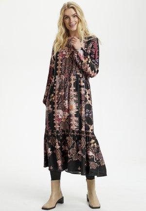 Day dress - black flower and leo