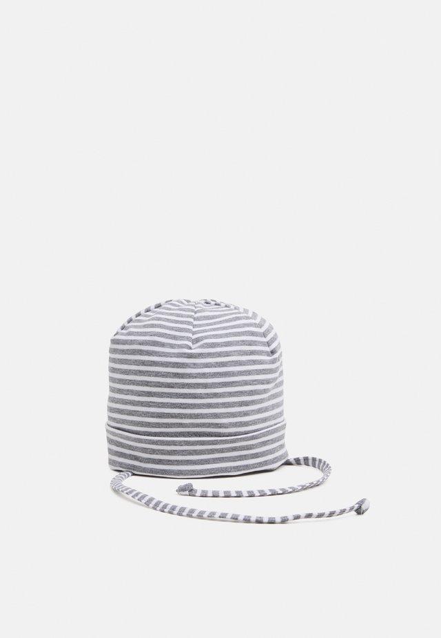 MINI UNISEX - Mütze - mittelgraumeliert/weiß