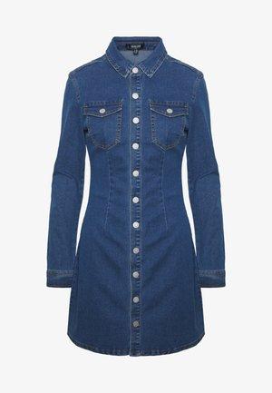 LONG SLEEVE BUTTON THROUGH DRESS - Robe en jean - blue