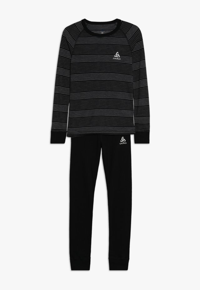 ACTIVE WARM KIDS SET - Undershirt - black/grey