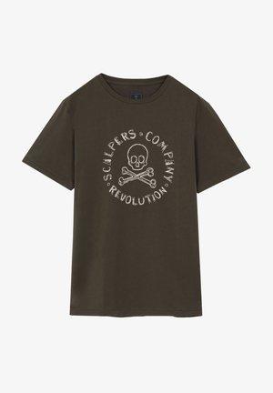 NEW STITCH TEE - T-shirt z nadrukiem - dark green